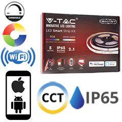 Smart LED szalag szett 5 méter RGB+CCT - Wi-Fi vezérlő+tápegység+távirányító 5050-60