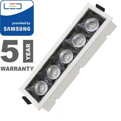 Szpot LED lámpa 20W (12°/1600 lm) hideg fehér, téglalap, PRO Samsung
