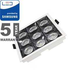 Szpot LED lámpa 36W (12°/2880 lm) hideg fehér, négyzet