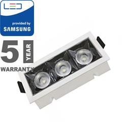 Szpot LED lámpa 12W (12°/960 lm) hideg fehér, téglalap, PRO Samsung