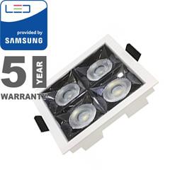 Szpot LED lámpa 16W (12°/1280 lm) hideg fehér, négyzet