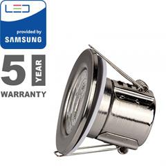 Tűzbiztos LED spot lámpa (5W/500lm) Samsung, nikkel, természetes fehér
