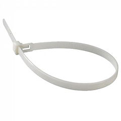 Vezeték rögzítő, kábel kötegelő (2.5x100 mm - 100 darab) fehér