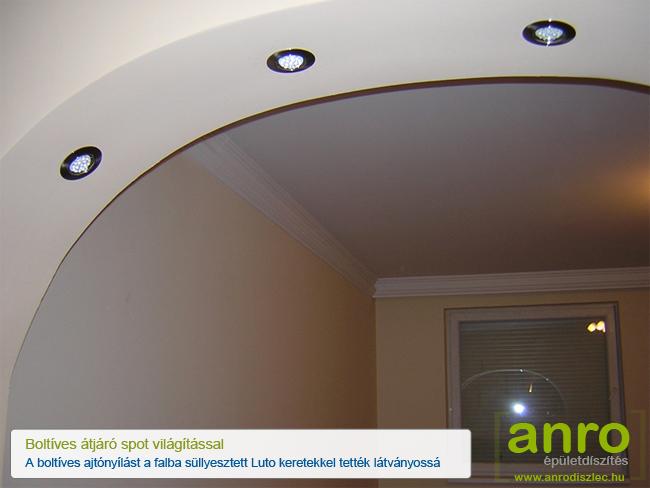 Boltív világítás Luto DT-02B mattkróm spotlámpákkal