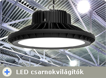 LED ipari lámpatestek (LED Lowbay-Highbay 18-300 Watt)