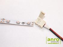 A LED szalagot csak a vágójelnél jelzett vágási pontokon lehet forrasztás-mentesen csatlakoztatni. Minden 0.5 és 1 méternél forrasztási pont van, ezeken a helyekre a forrasztás kiemelkedés miatt nem lehet a csatlakozókat használni.