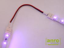 Ismételjük meg a fenti műveleteket a másik LED szalag darabon is, majd helyezzük feszültség alá.