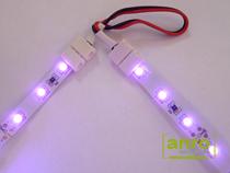 A vezetéket egészen közelre lehet húzni, vagy összesodorni, így nem lesz távolság a két LED szalag között, így a fényük is folyamatos lesz.
