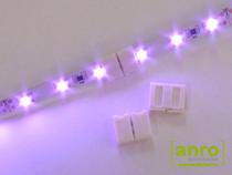 Feszültség alá helyezve a teljes LED szalag világít, hibátlanra vizsgázott a toldólelem.