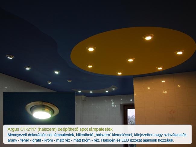 Halszem formájú beépíthető szpot lámpatest Argus CT-2117