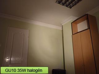 35 Wattos halogén spot lámpa fényereje