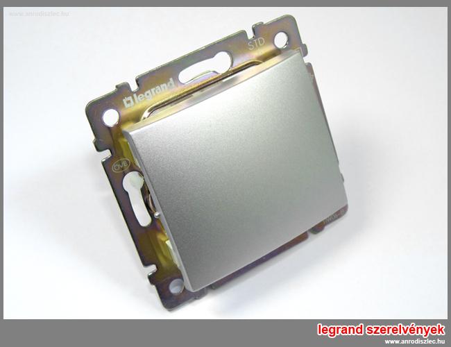 Fotó: Valena 1 pólusú kapcsoló (250V~/10AX) alumínium