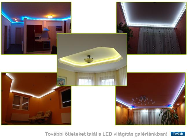 Mennyezeti rejtett világítás készítése RV-s díszléccel és LED szalaggal, modullal
