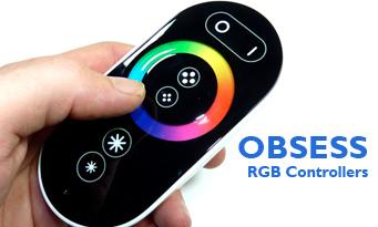 Színterápiás RGB LED szalag érintésérzékeny vezérlő