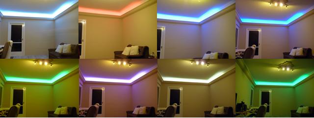 Beltéri változtatható színű (RGB) világítás