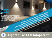 LightHouse kültéri design LED lámpák