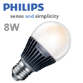 Philips E27 LED lámpa 8 Wattos Lumileds LED-el, zárt búrás!