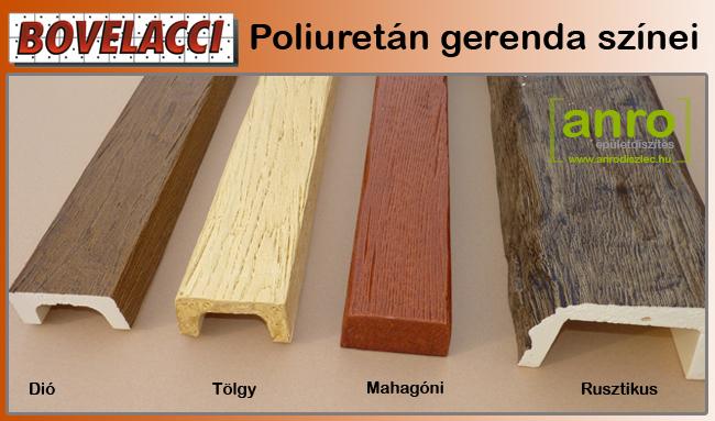 Bovelacci poliuretán gerenda színeinek összehasonlítása