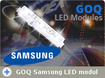 Samsung chipes GOQ LED modulok