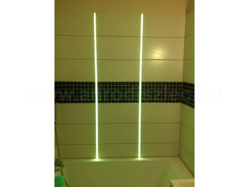 Fürdőszoba falba süllyesztett színváltós LED világítás - Vásárlóink fotói - Díszléc és LED lámpa ...
