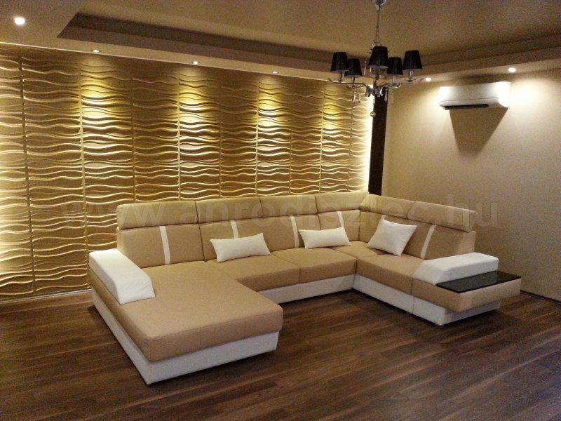 falpanel falburkolat faldekoráció wallart házhoz szállítás anro webáruház LED világítás LED szalag hangulatfény lakberendezés nappali