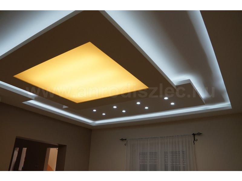 Nappali gipszkarton mennyezet LED világítással - Vásárlóink fotói ...