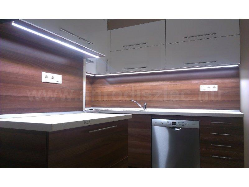 Konyhai pult világítás 2835x120 SMD ledes szalaggal, hidegfehér fényű változat