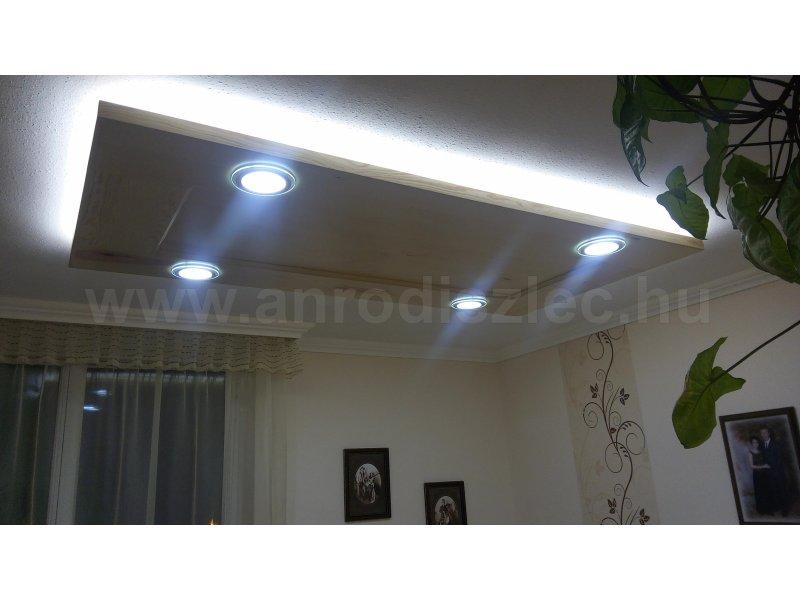 Mennyezetbe épített kör alakú LED panelek, 12 wattos Glass panel